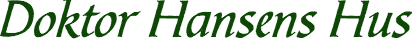 Doktor Hansens Hus Logo Green PixTeller