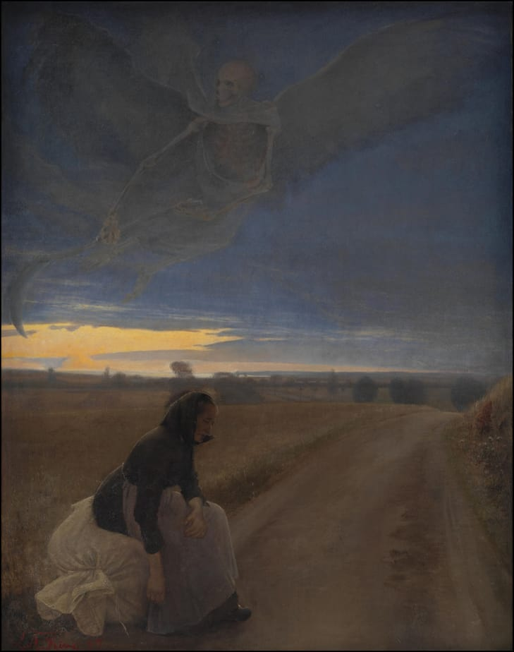 Den Gamle Kone Og Døden L.A. Ring 1885