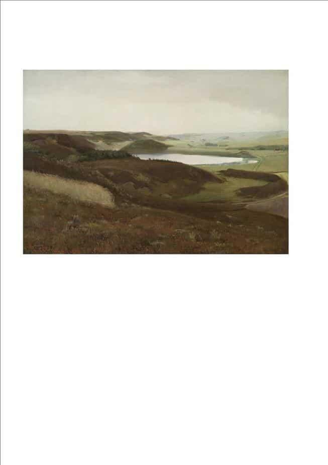 L. A. Ring. Landskab Ved Bryrupegnen. 1888
